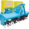 Soil preparation machine of tilling ridging,fertilizing and pulverizing soil block